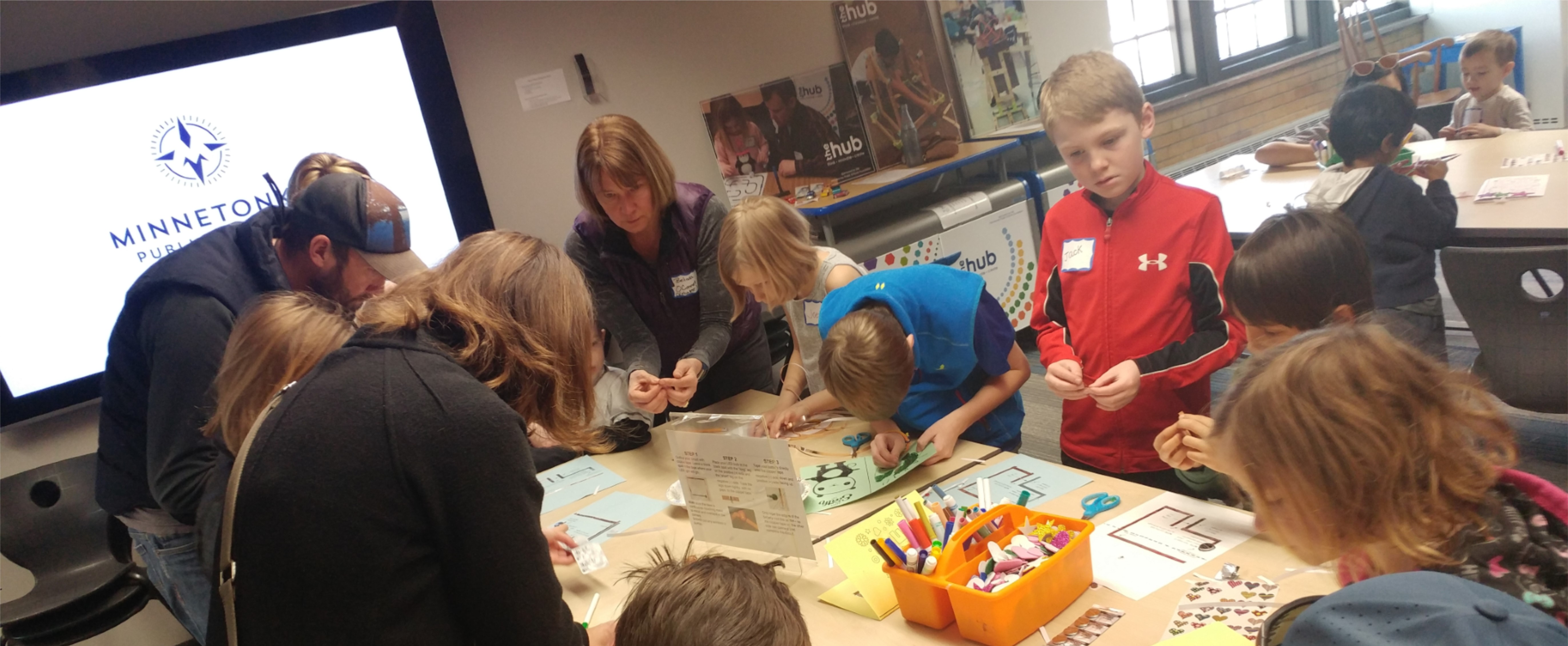Minnetonka kids using HUB materials.